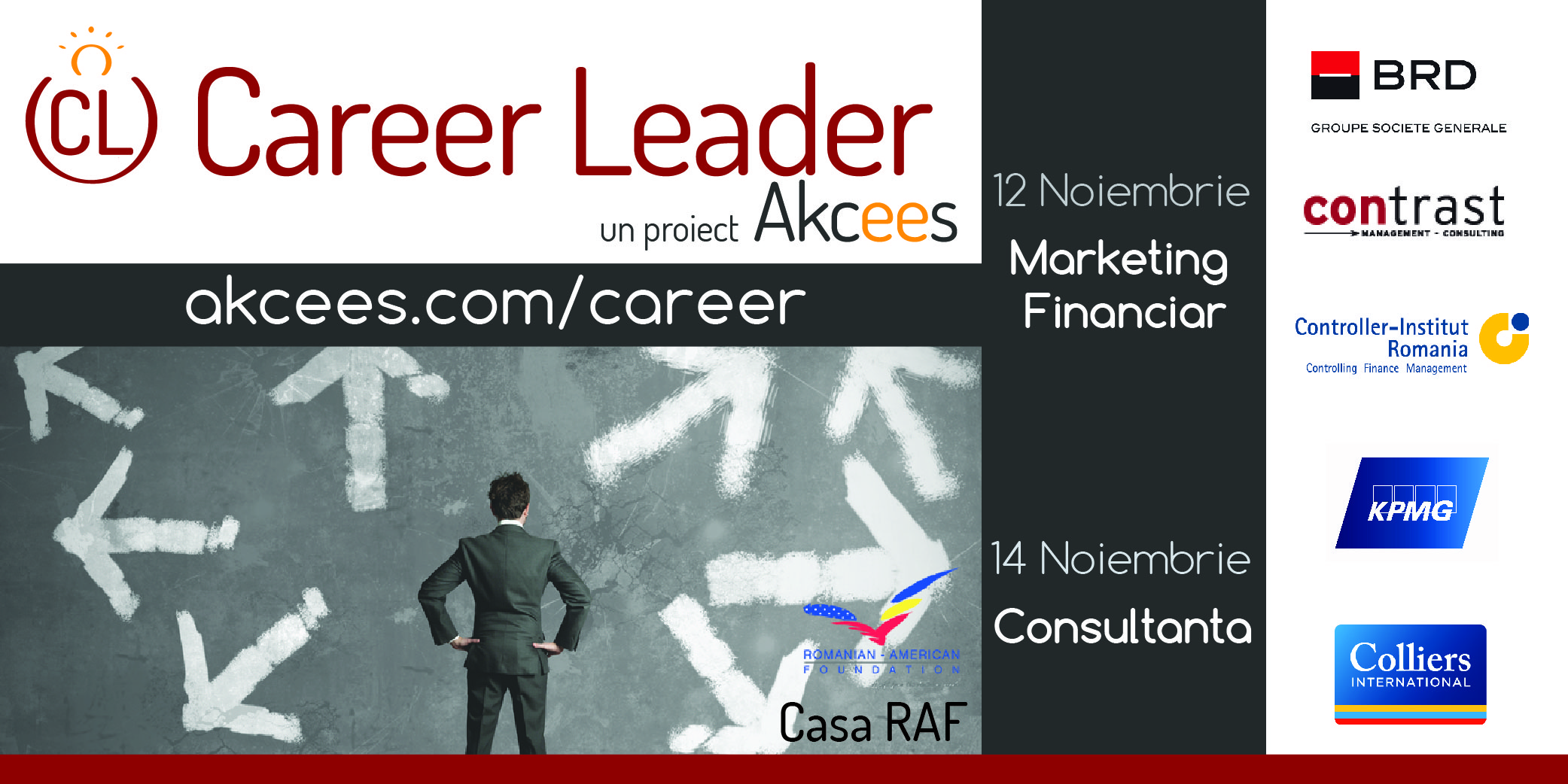 Oportunitati de cariera in consultanta & marketing financiar la Career Leader 6